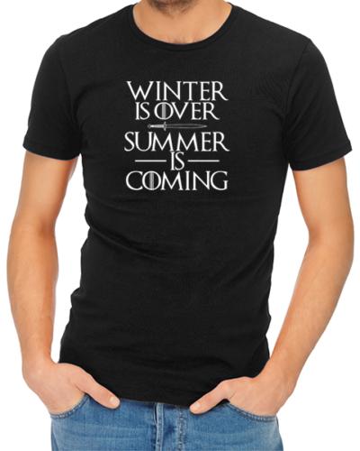 summer is coming mens tshirt black
