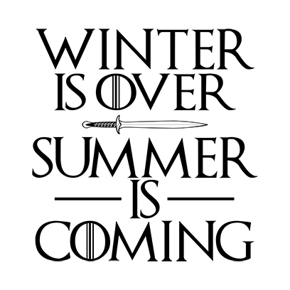 summer is coming white square