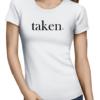 taken ladies tshirt white