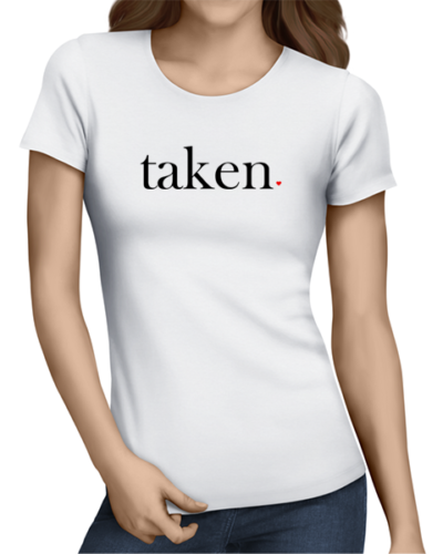taken ladies tshirt white