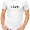 taken mens tshirt white