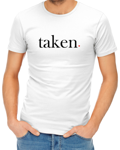 taken mens tshirt white