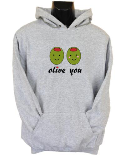 Olive you Grey Hoodie
