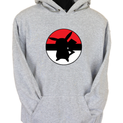 Pikachu Ball Grey Hoodie