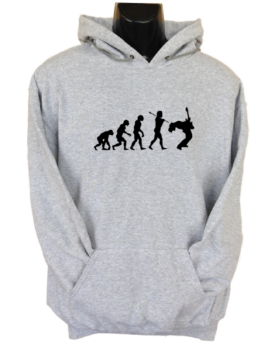 Rock Evolution Grey Hoodie