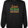 Save the Planet Black Hoodie