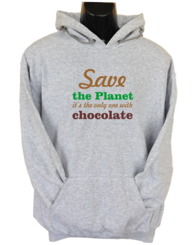 Save the Planet Grey Hoodie