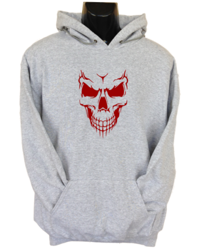 Scary Skull Face Grey Hoodie