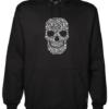 Skull Face Collage Black Hoodie