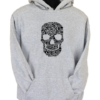Skull Face Collage Grey Hoodie