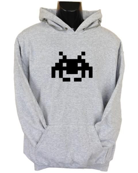 Space Invaders Grey Hoodie