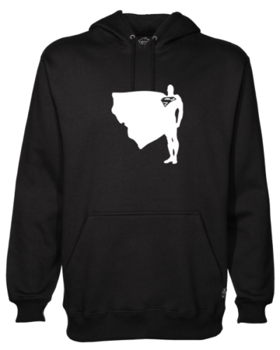 Superman Proud and Tall Black Hoodie