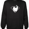 Superman Silhoutte Black Hoodie
