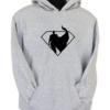 Superman Silhoutte Grey Hoodie