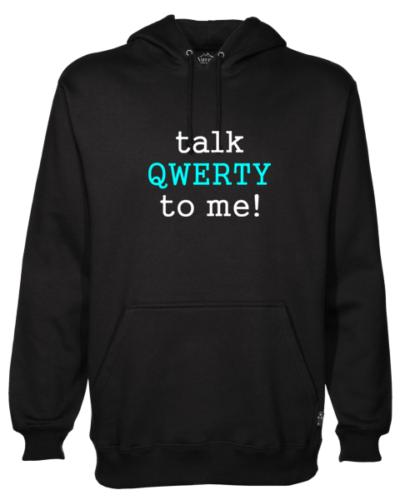 Talk Qwerty To Me Black Hoodie
