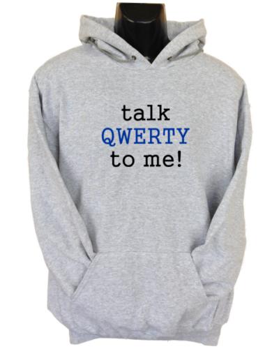 Talk Qwerty To Me Grey Hoodie