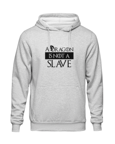 dragon is not a slave Grey Hoodie