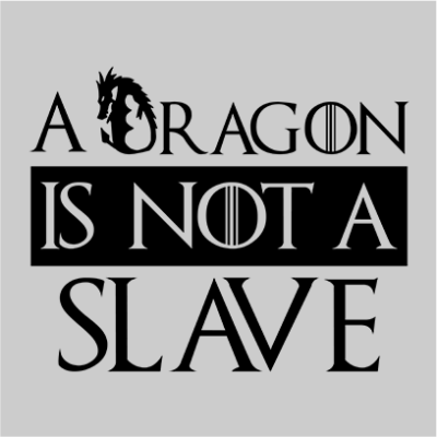 dragon is not a slave grey square