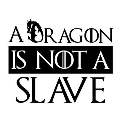 dragon is not a slave white square