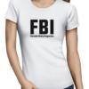 fbi ladies tshirt white