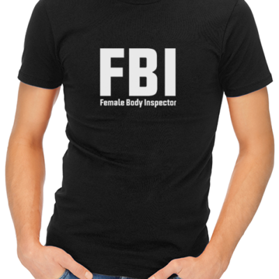 fbi mens tshirt black