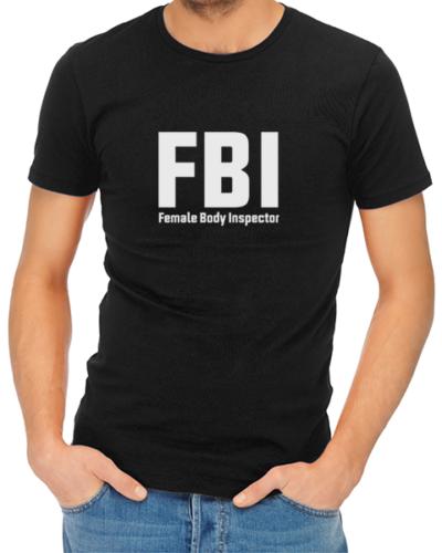 fbi mens tshirt black