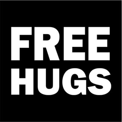 free hugs black square