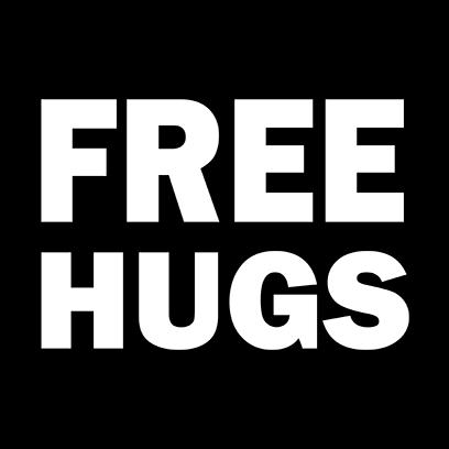 free hugs black square