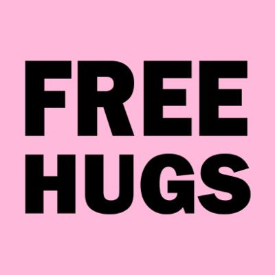 free hugs pink square