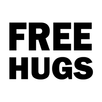 free hugs white square