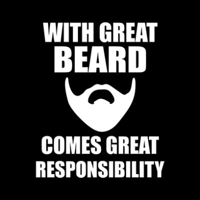 great beard black square