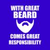 great beard blue square