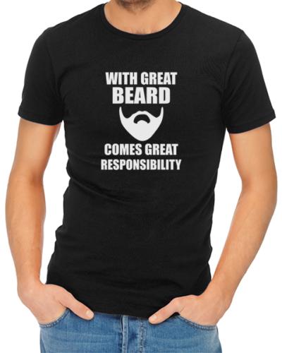 great beard mens tshirt black