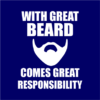 great beard navy square