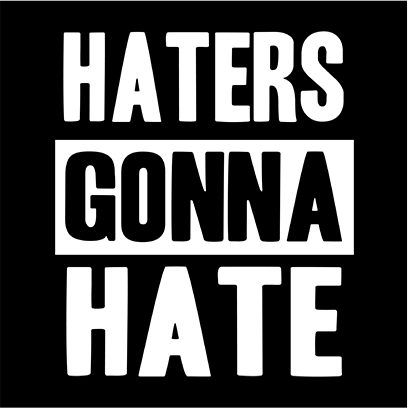haters gonna hate black square