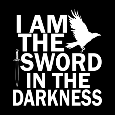 i am the sword black square