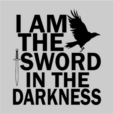 i am the sword grey square