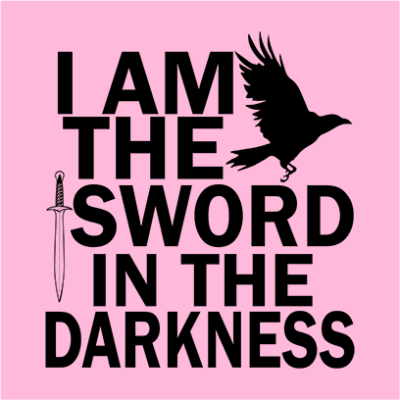 i am the sword pink square