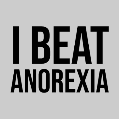 i beat anorexia grey square
