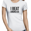 i beat anorexia ladies tshirt white