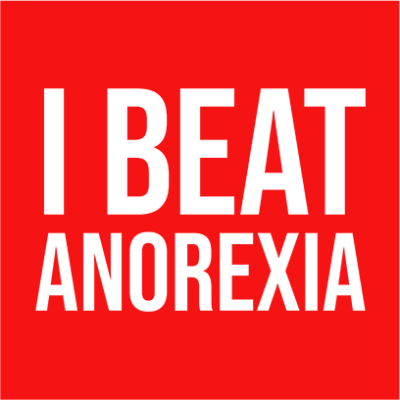 i beat anorexia red square