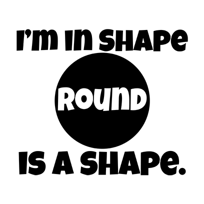 im in shape white square