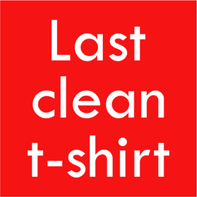 last clean tshirt red square