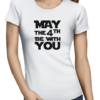 may the 4th ladies tshirt white