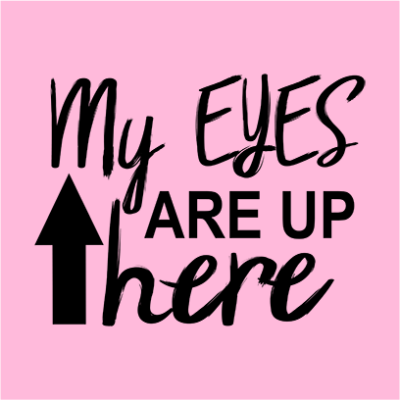 my eyes are up here pink square