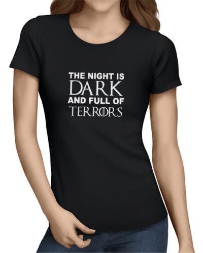 night is dark ladies tshirt black