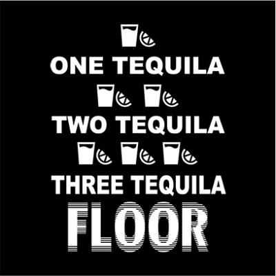 one tequila two tequila black square