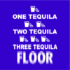 one tequila two tequila blue square