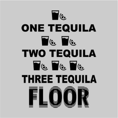 one tequila two tequila grey square