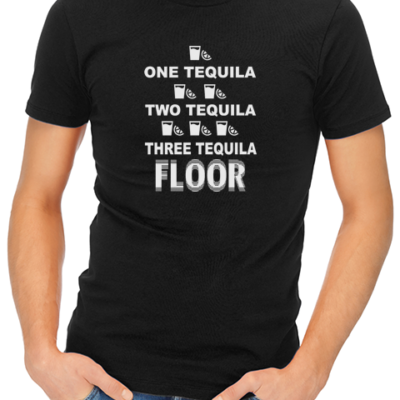 one tequila two tequila mens tshirt black